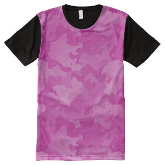 Pink Camo All-Over Print T-Shirt