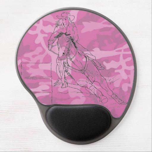 Pink Camo Barrel Racer Gel Mousepad