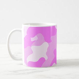 Pink Camo Basic White Mug