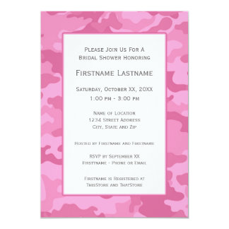 Pink Camo Bridal Shower or Engagement Party Custom Invite
