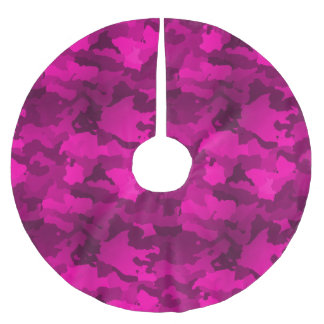 Pink Camo Brushed Polyester Tree Skirt