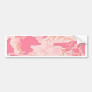 Pink Camo Bumper Sticker