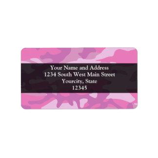Pink Camo Camoflauge Label