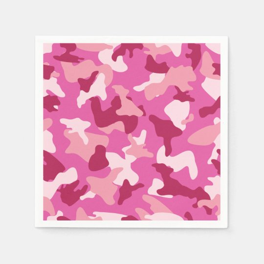 Pink camo camouflage army pattern disposable napkin