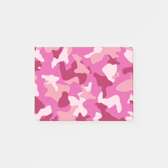 Pink camo camouflage army pattern post-it notes