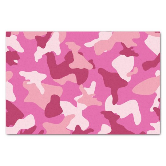 Pink camo camouflage army pattern tissue paper