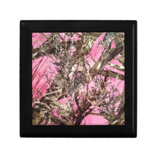 Pink Camo - Camouflage Gifts - Small Square Gift Box