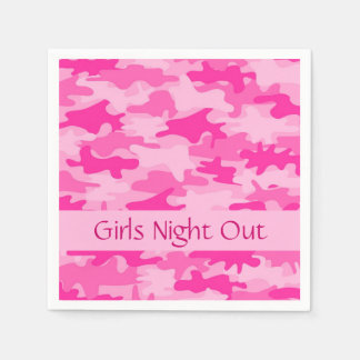 Pink Camo Camouflage Girls Night Out Party Disposable Serviettes