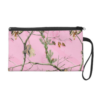 Pink Camo Camouflage Hunt Make Up Bag Tote Purse Wristlet Purse