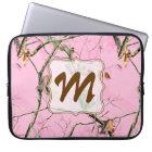 "Pink Camo Camouflage Hunt Monogram 15"" Laptop Case"