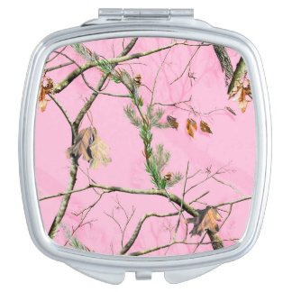Pink Camo Camouflage Hunting Girl Compact Mirror