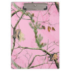Pink Camo Camouflage Hunting Girl Real Clip Board