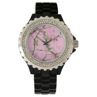 Pink Camo Camouflage Hunting Girl Real Tree Watch