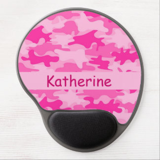 Pink Camo Camouflage Name Personalized Gel Mouse Pad