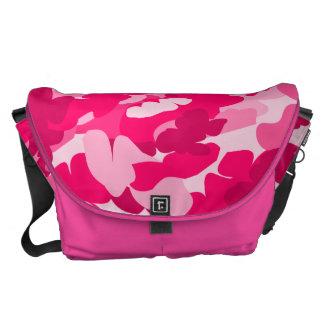 pink camo,camouflage trend messenger bag