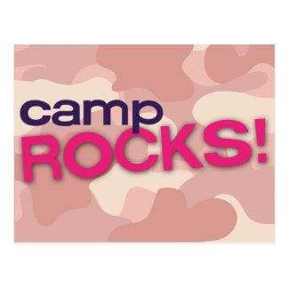 Pink Camo CAMP ROCKS! Postcard