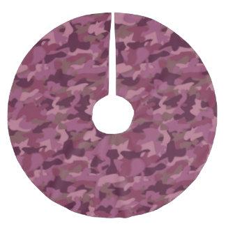 Pink Camo Christmas Tree Skirt Camouflage Military