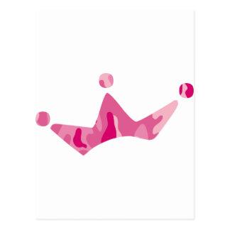 Pink Camo Crown Postcard