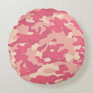 Pink Camo Design Round Cushion