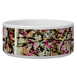 Pink Camo Dog Food Dish