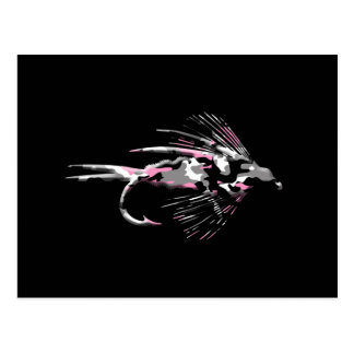 Pink Camo Fly Fishing Lure Postcard