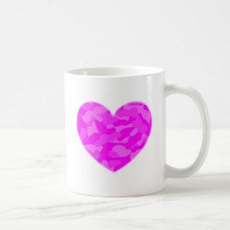 Pink Camo Heart Coffee Mug