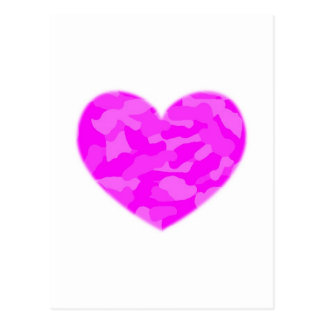 Pink Camo Heart Post Card