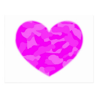 Pink Camo Heart Post Cards