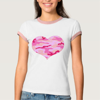 Pink Camo Heart T-Shirt
