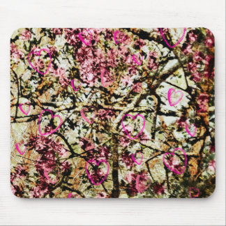 Pink Camo & Hearts Mouse Pad