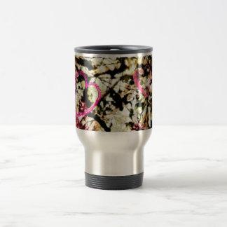 Pink Camo & Hearts Coffee Mugs