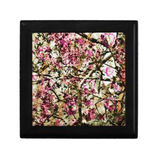 Pink Camo & Hearts Small Square Gift Box