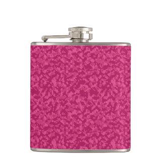Pink Camo Hip Flask