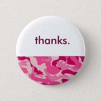 Pink-Camo-lg, thanks. 6 Cm Round Badge