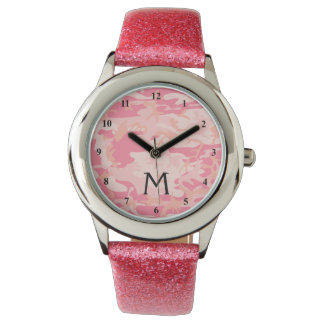 Pink Camo | Military Camouflage Monogrammed Watch