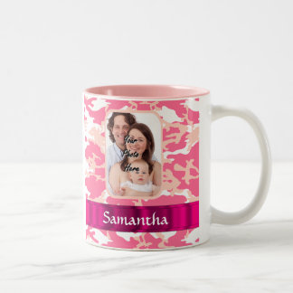 Pink camo Two-Tone mug