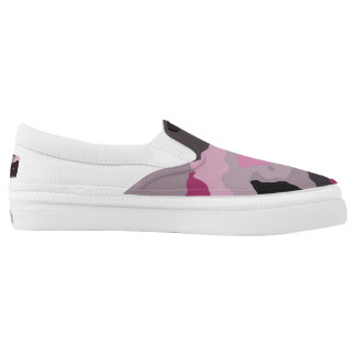 Pink camo printed shoes