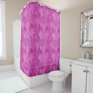 Pink Camo Shower Curtain