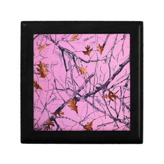 Pink Camo Small Square Gift Box