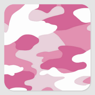Pink Camo Square Sticker