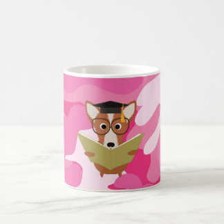 Pink Camo Study Dog Mug