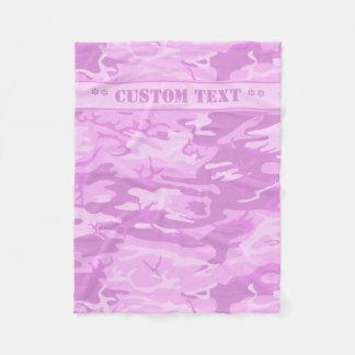 Pink Camo w/ Custom Text Fleece Blanket