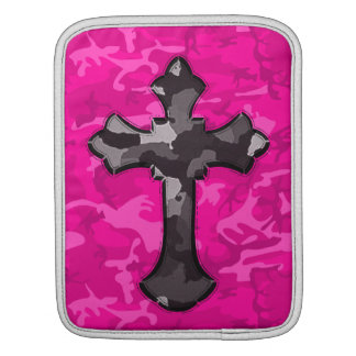 Pink Camo with Cross iPad Sleeve