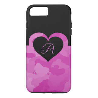 Pink Camo with Customizable Monogram Initial iPhone 8 Plus/7 Plus Case
