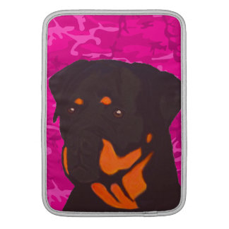 Pink Camo with Rottweiler Sleeve For MacBook Air