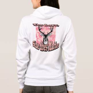 Pink Camo Women Woman Hoodie Deer Buck Hunting