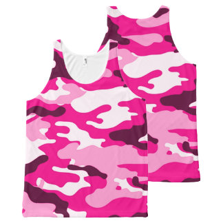 Pink Camouflage All Over Print Tank Top All-Over Print Tank Top