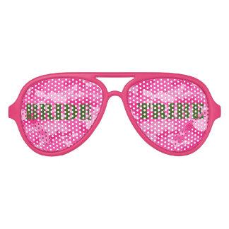 Pink Camouflage Bachelorette Bride Tribe Glasses