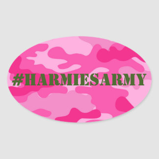 Pink Camouflage Bachelorette Hashtag Stickers
