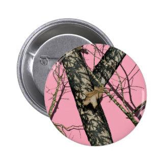 Pink Camouflage 6 Cm Round Badge